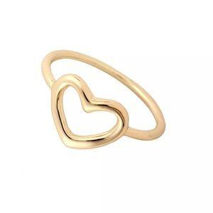 Jewelry - Gold Open Heart Midi Ring